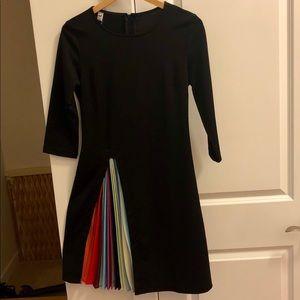 Dresses & Skirts - Black Dress w/Rainbow Pleat Skirt